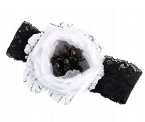 Black & White Lace Wedding Garter